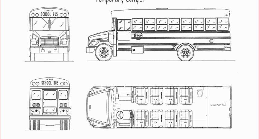Short Bus Conversion Floor Plans Unique School