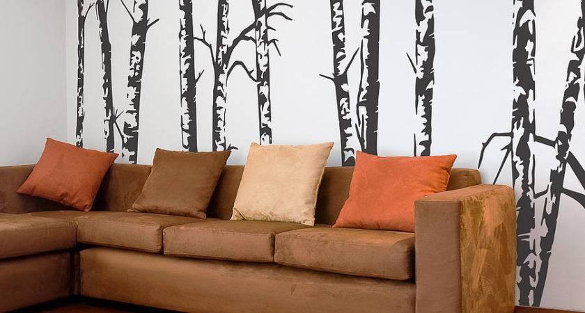 Silver Birch Trees Vinyl Wall Sticker Oakdene Designs