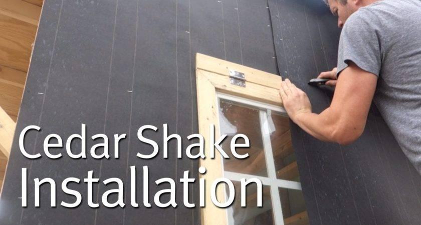 Simple Cedar Shake Siding Installation Youtube