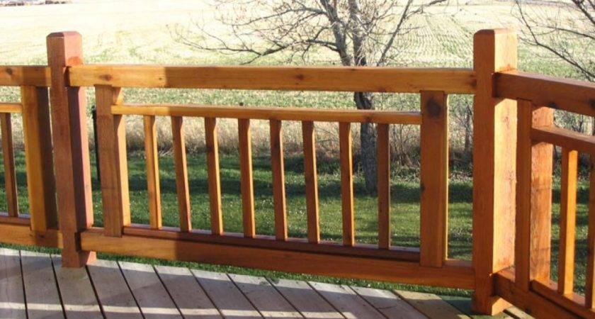Simple Deck Railing Designs Cabin