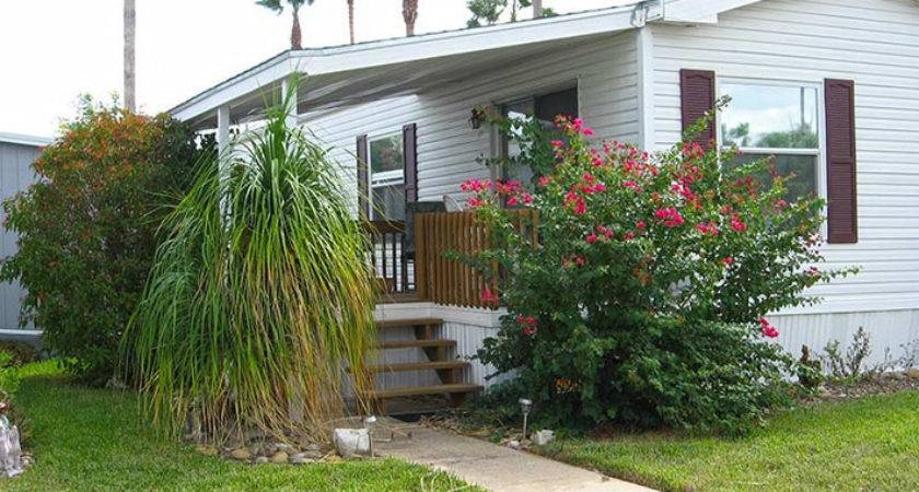 Simple Mobile Home Landscaping Wooden