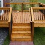 Simple Relatively Inexpensive Cedar Deck Aluminum