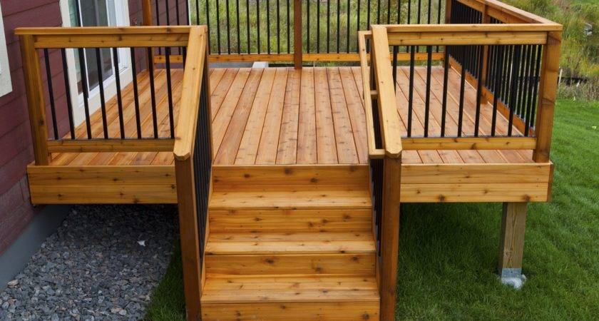 Simple Relatively Inexpensive Cedar Deck Aluminum