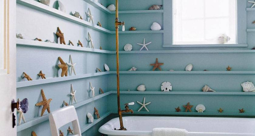 Simple Rustic Beach Inspired Bathroom Decoration Design