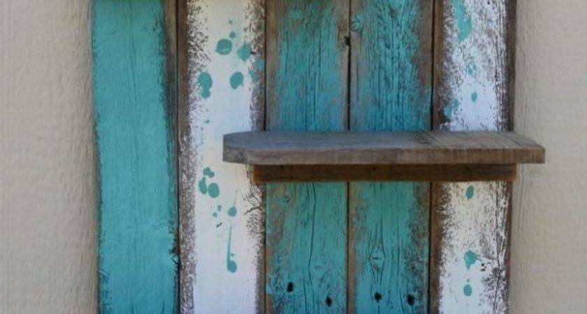 Simple Rustic Pallet Wall Shelf Ideas Recycled