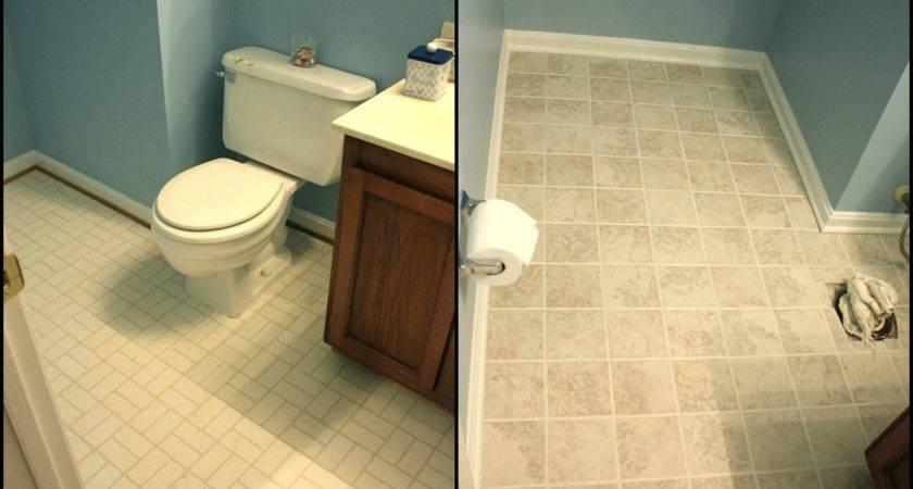 Simply Diy Bathroom Floor Part Done
