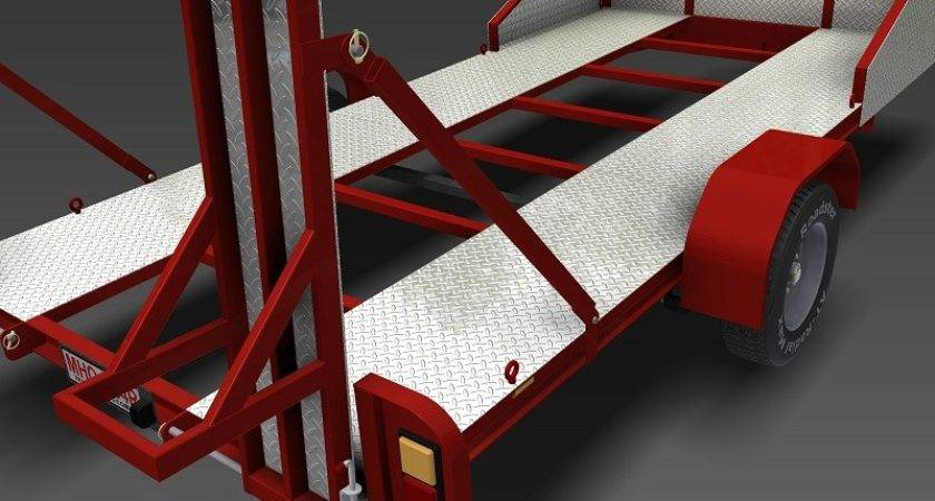 Single Axle Flatbed Trailer Plans