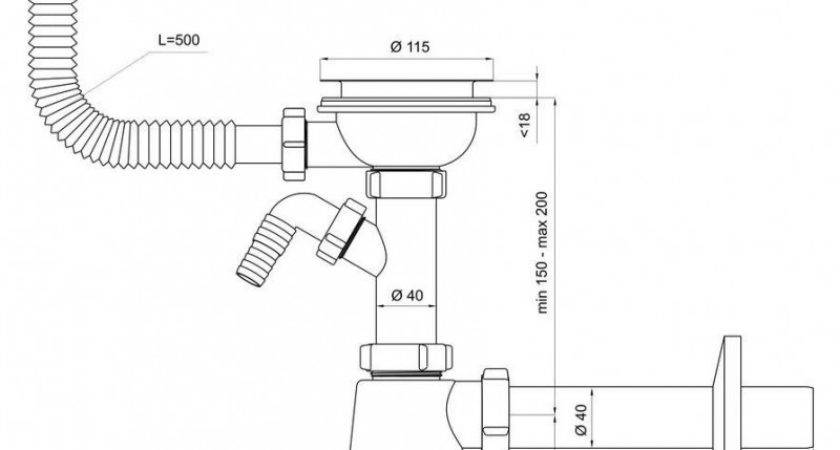 Single Kitchen Sink Bottle Drain Waste Trap Wash