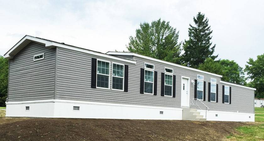 Single Wide Manufactured Home Exterior Village