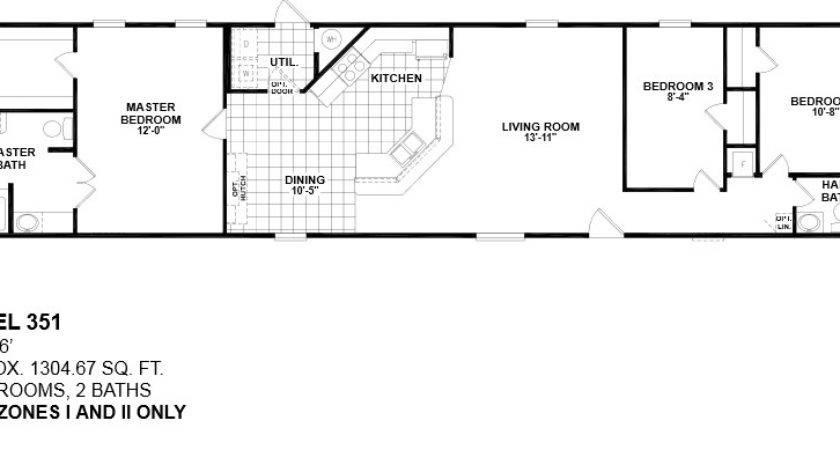 Single Wide Mobile Home Floor Plans Bedroom Gurus