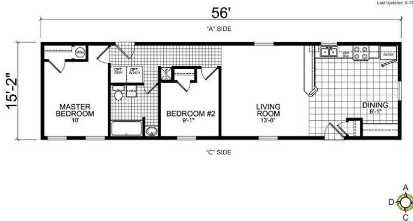Single Wide Mobile Home Floor Plans Bedroom Unique