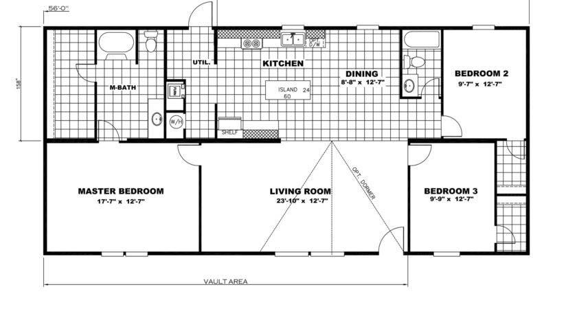 Single Wide Mobile Home Floor Plans Bedroom