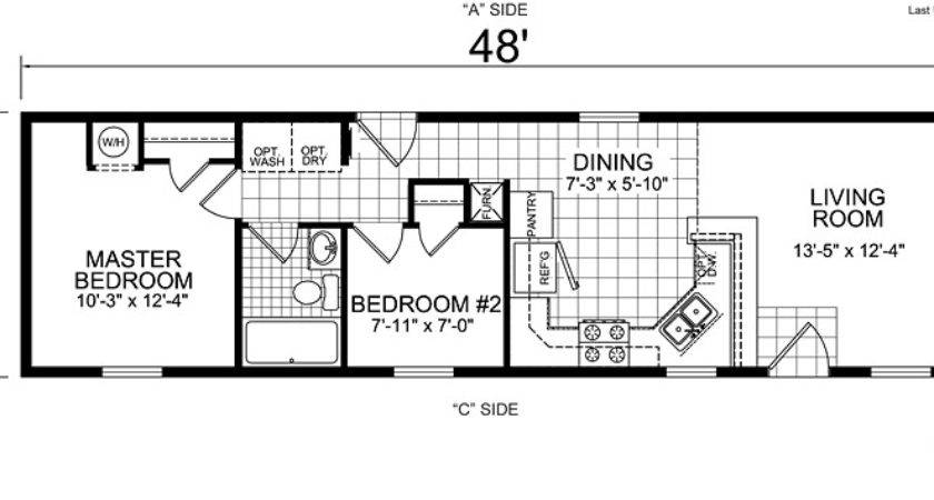 Single Wide Mobile Home Floor Plans Bookks Pinterest