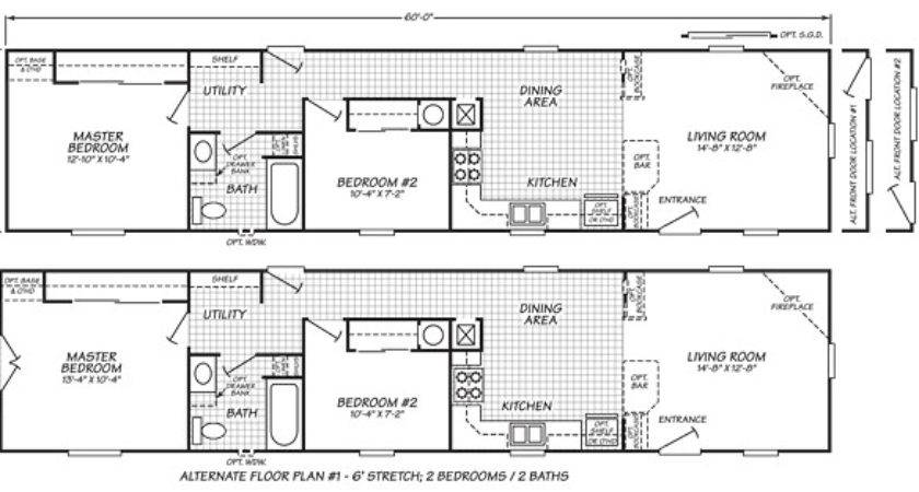 Single Wide Mobile Home Floor Plans Manufactured Plan