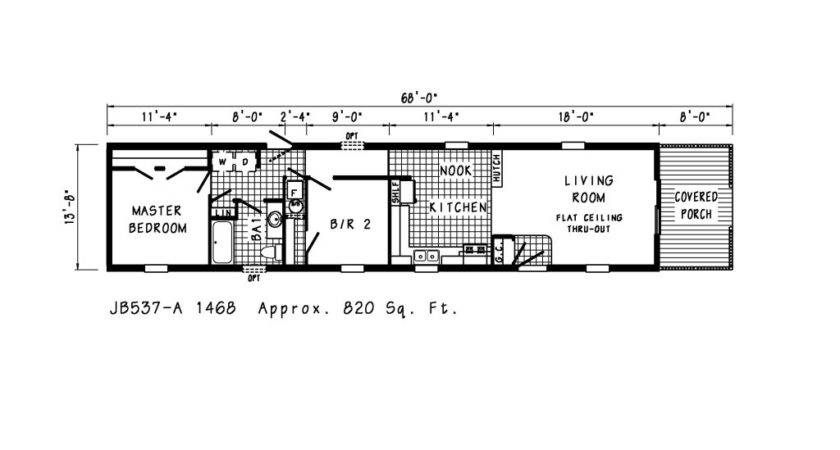 Single Wide Mobile Homes Floor Plans Factory