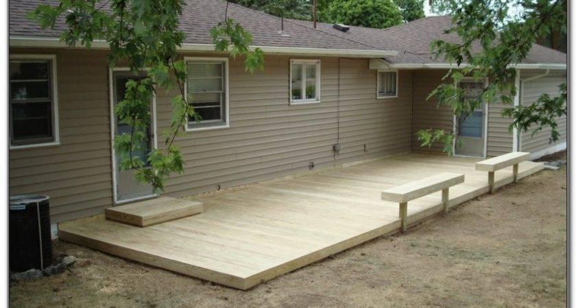 Skill Deck Plans Ground Level Decks Home