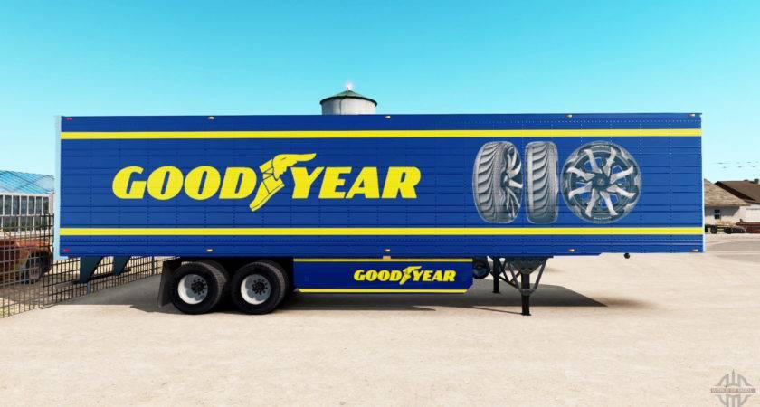 Skin Goodyear Refrigerated Semi Trailer American