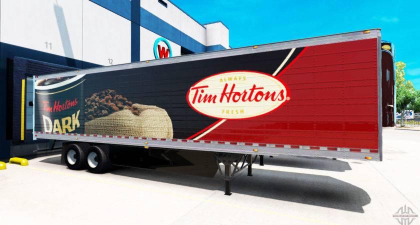Skin Tim Hortons Trailer American Truck Simulator