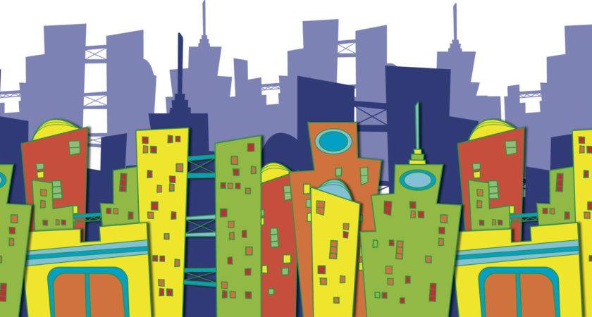 Skyline Clipart City Scene Pencil Color