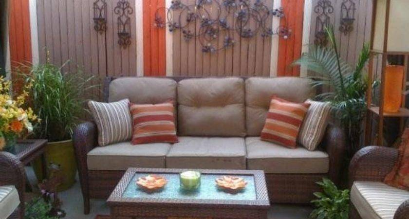 Small Back Porch Decorating Inner City Patio