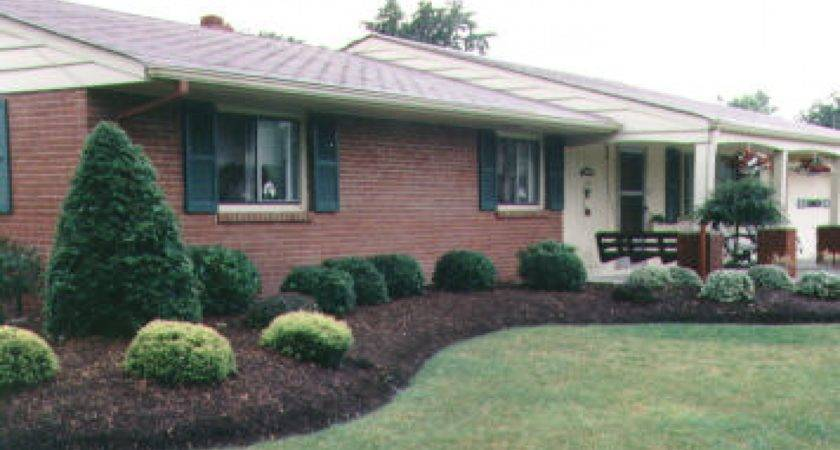 Small Brick Homes Landscaping Ranch Style