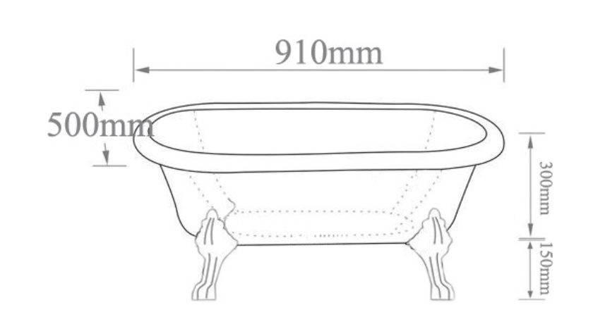 Small Clawfoot Tub Baby