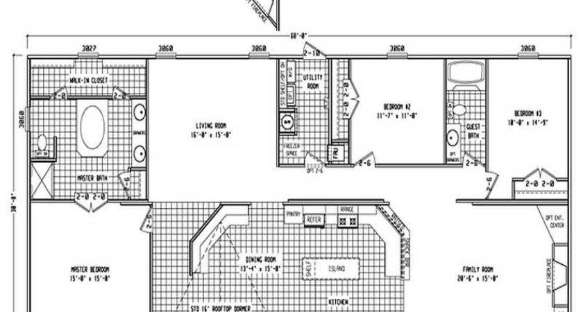 Small Double Wide Mobile Home Floor Plans Modern Modular
