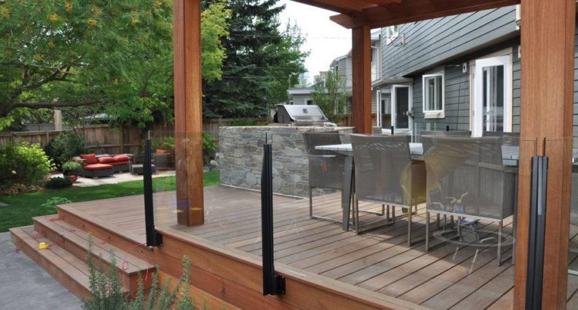 Small Glass Deck Railing Jbeedesigns Outdoor Stylish