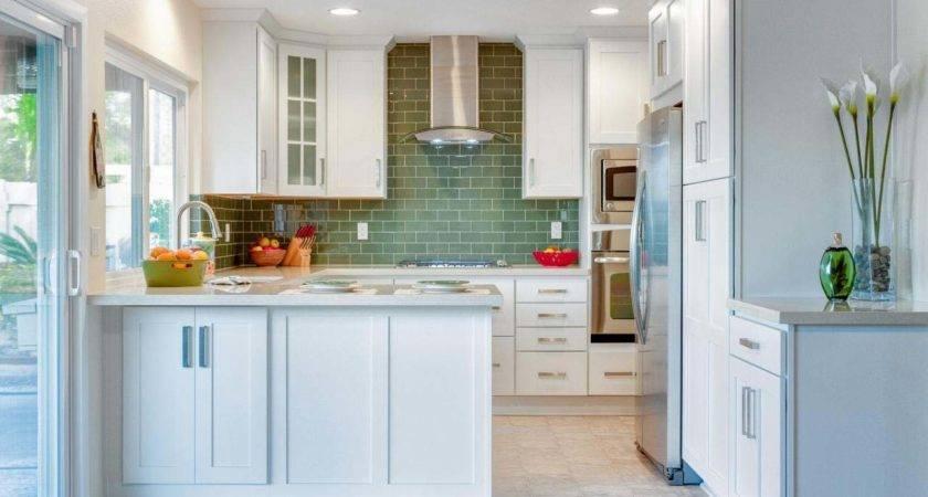 Small Kitchen Look Bigger Paint Color Idea Green