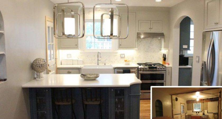 Small Kitchen Remodel Before After Layout Stylish