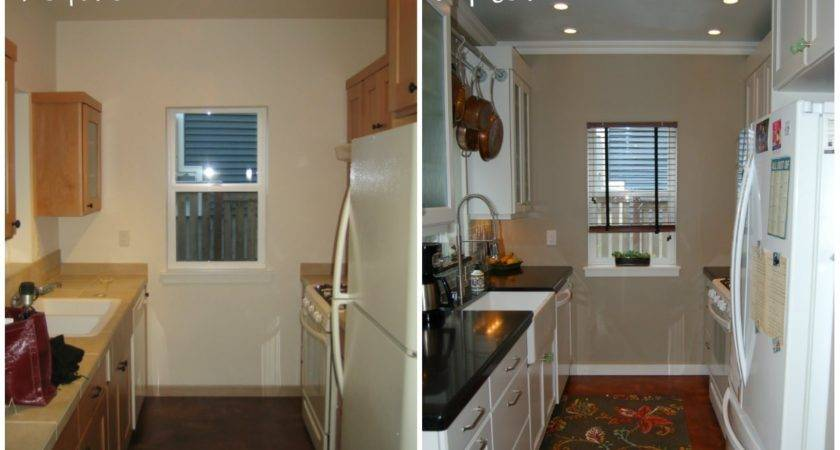 Small Kitchen Remodel Before After Stunning