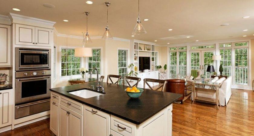 Small Open Kitchen Living Room Cabinets