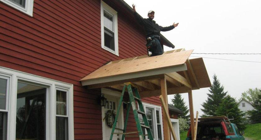Small Porch Roof Framing Karenefoley Chimney