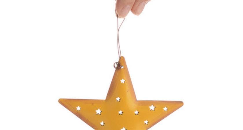 Small Rustic Metal Star Ornament Christmas Ornaments