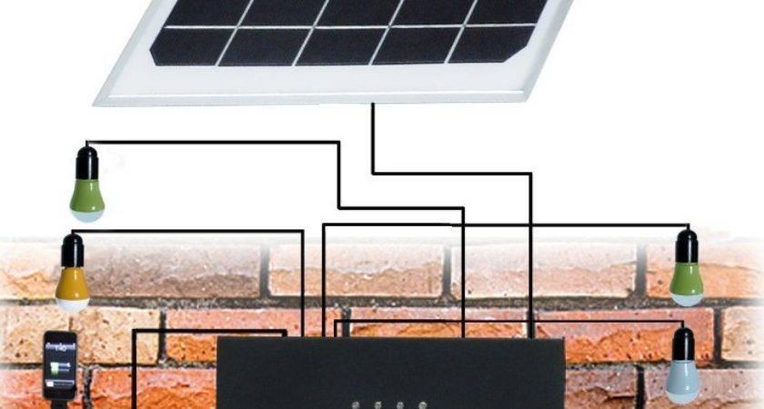 Small Solar Home Lighting Kit Led Lights Mobile