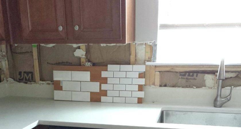 Small Subway Tile Kitchen Backsplash Saomc