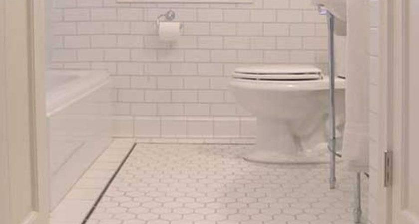 Small Tiles Bathroom Floor Design Ideas