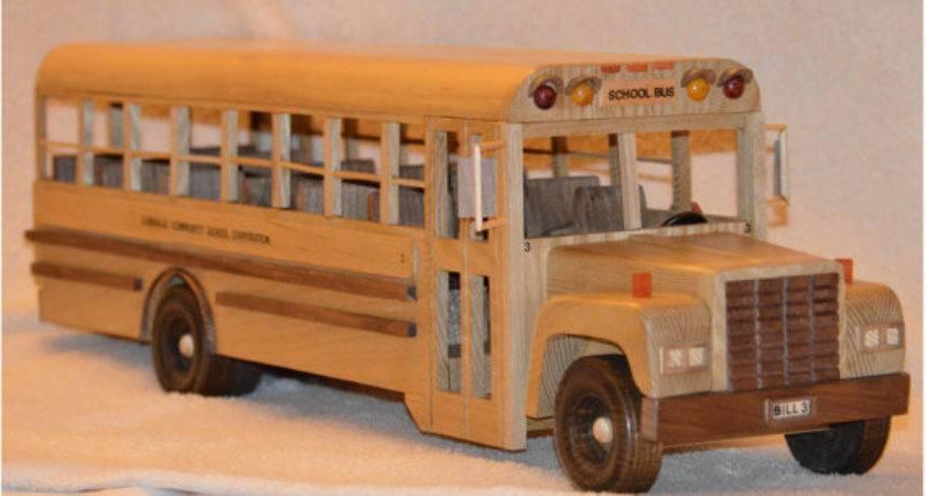 Solid Wood School Bus Woodmagicians Etsy