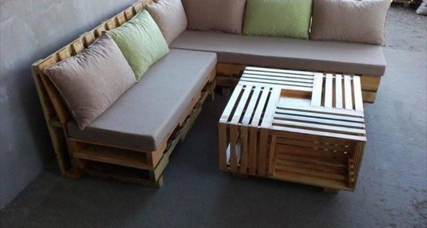 Some Wonderful Pallet Shape Sofa Set Pallets Designs