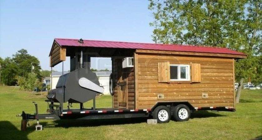 Southern Yankee Barbecue Trailer Log Cabin Concession