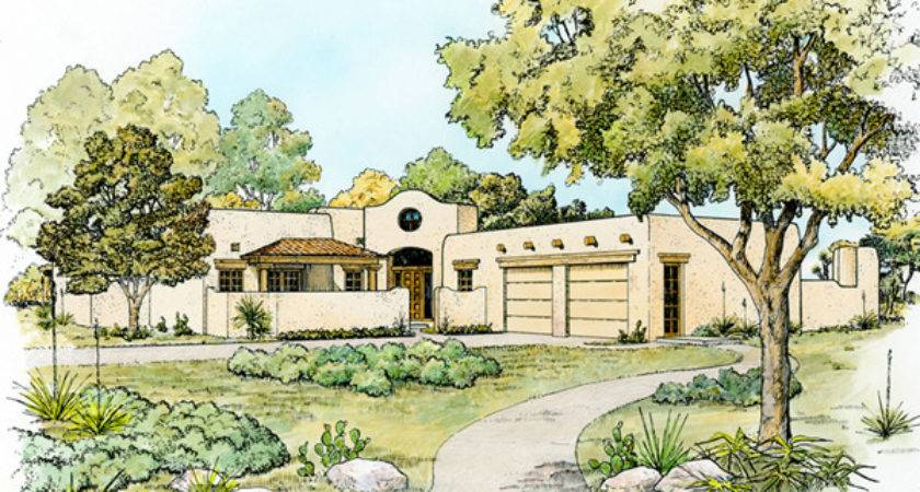 Southwestern Style Home Plans Floor