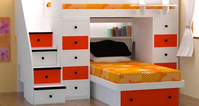 Space Saving Bunk Bed Design Ideas Kids Bedroom Vizmini