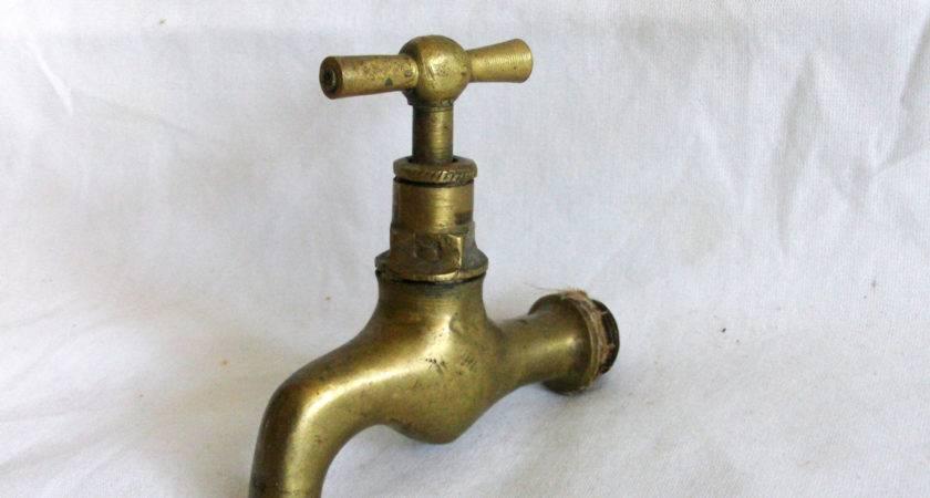 Spigot Garden Hose Vintage Brass Water Faucet Decorative