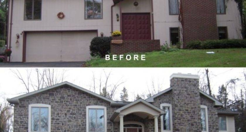 Split Level Remodel Before After Bilevel Exterior