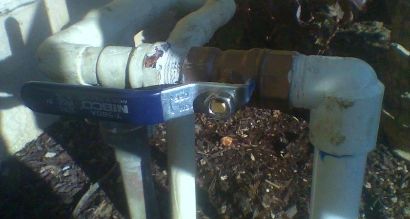 Sprinklers Repair Install Brass Shut Off Valve