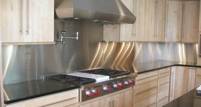 Stainless Steel Backsplash Modern Style Tiles