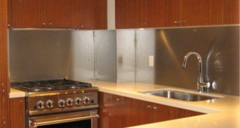 Stainless Steel Backsplash Sheets Cool
