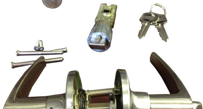 Stainless Steel Combination Lever Lock Set Mobile Home