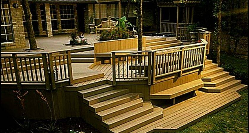 Standing Elevated Deck Plans Home Design Ideas