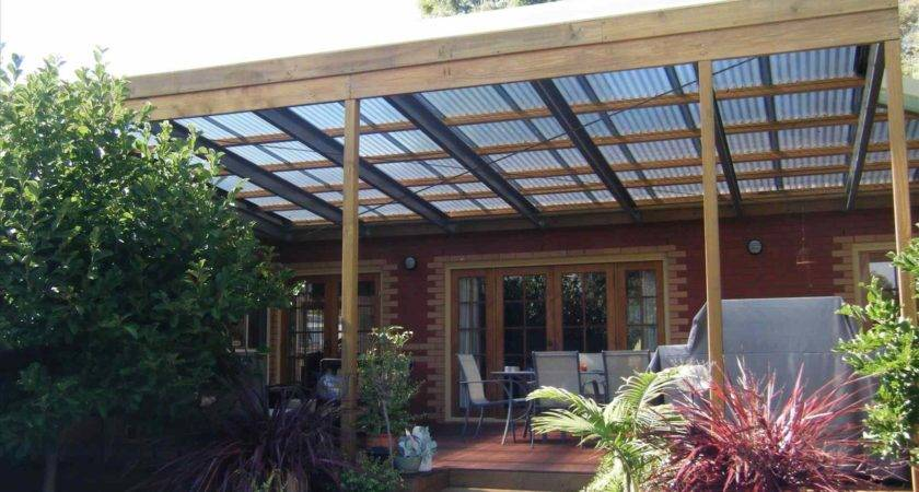 Standing Wood Patio Cover Plans Awesome Design
